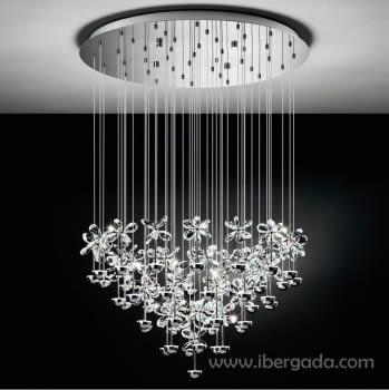 Colgante Pianopoli Cromo Grande LED