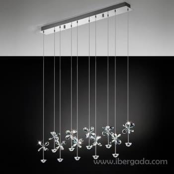 Colgante Pianopoli Cromo LED
