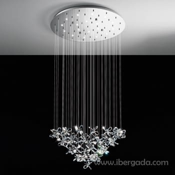 Colgante Saraceno Cromo LED