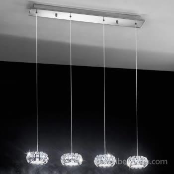 Colgante Corliano Cromo 4L LED