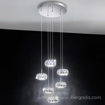 Colgante Corliano Cromo 6L LED