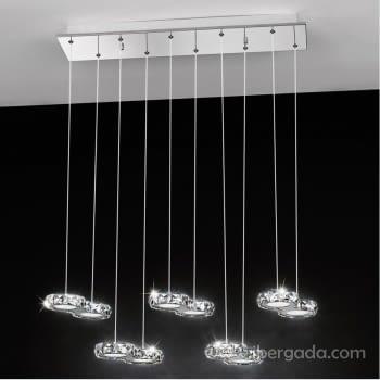 Colgante Corliano Cromo 10L LED