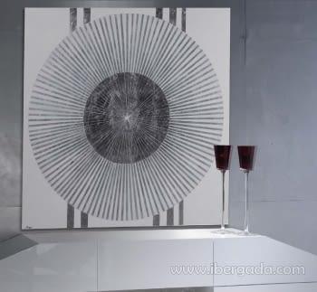 Cuadro Juno Pan de Plata Blanco
