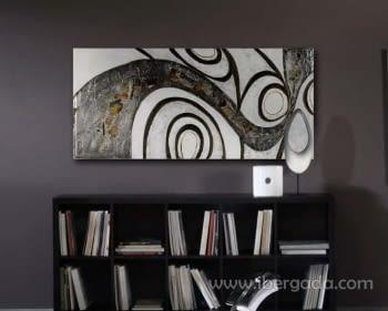 Cuadro Curvas Plata Collage