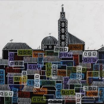 Cuadro City of Colours - 1
