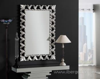 Espejo Ares Barroco Plata (114x76)