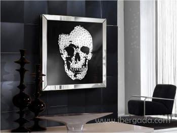 Cuadro Espejo Skull (60x60)