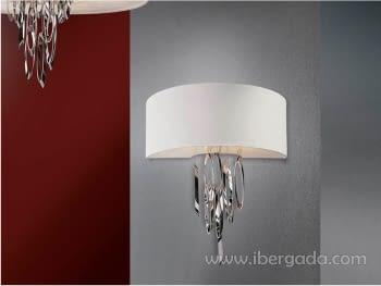 Aplique Domo Cromo/Blanco LED