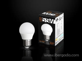 Bombilla LED E27 Globo 5,5W Luz Cálida