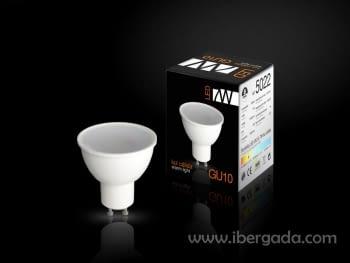Bombilla LED GU10 7W Luz Cálida