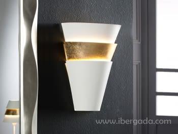 Aplique Isis Blanco/Oro 1L LED