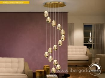 Lampara Rocío Oro LED 14L Dimmable