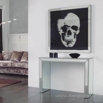 Cuadro Espejo Skull Grande (100x100)