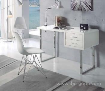 Escritorio Blanco/Cromo