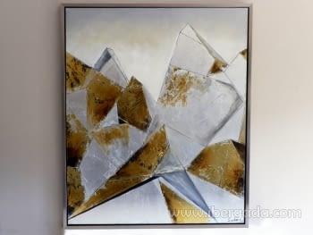 Cuadro Oleo Cubista Pan de Oro (120x100)