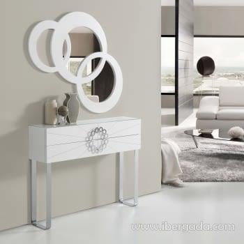 Consola Mónaco Blanca/Cromo - 1