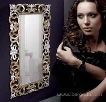 Espejo Naida Plata/Oro (178x90)