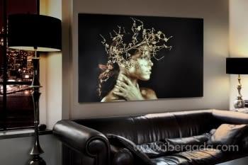 Fotografía Mujer Dorada (150x100)