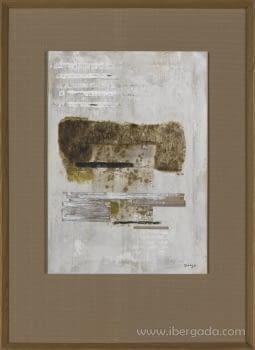 Cuadro Carta Blanca I Roble (110x80)