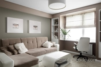 Cuadro Bressol II Blanco (70x70) - 1