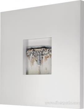 Cuadro Bressol II Blanco (70x70) - 2
