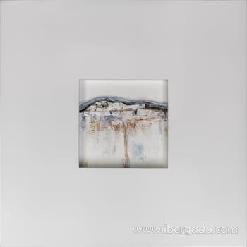 Cuadro Bressol I Blanco (70x70)