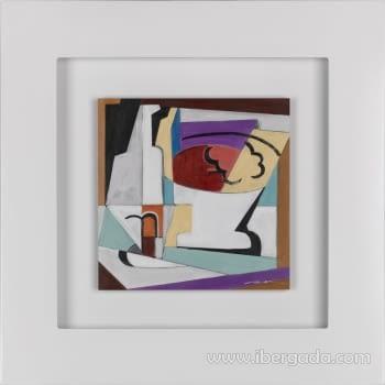 Cuadro Bodegon Cubista 02 (80x80)