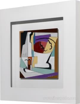 Cuadro Bodegon Cubista 02 (80x80) - 2