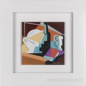Cuadro Bodegon Cubista 01 (80x80)
