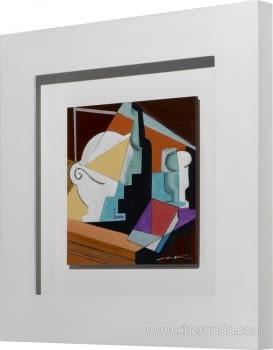 Cuadro Bodegon Cubista 01 (80x80) - 2