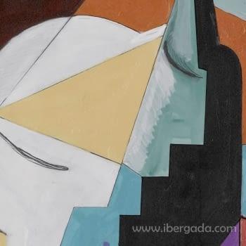 Cuadro Bodegon Cubista 01 (80x80) - 3
