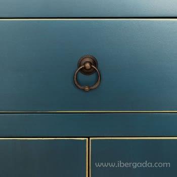 Cómoda Oriente Azul 2 Puertas Pequeña - 2