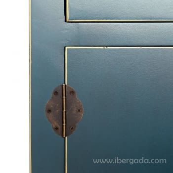 Cómoda Oriente Azul 2 Puertas Pequeña - 3