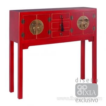Recibidor Oriente Rojo 4 Puertas