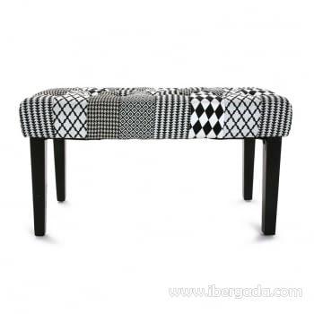 Banqueta Geometric Blanco/Negro - 1