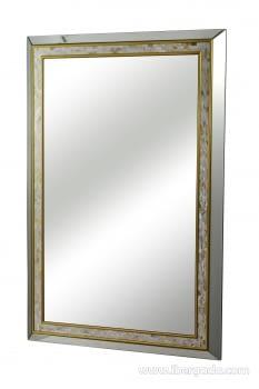 Espejo Rectangular Nacar/Oro (120x80)