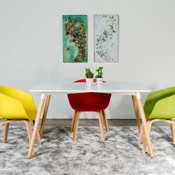 Mesa de Comedor Blanco Natural (130X80)