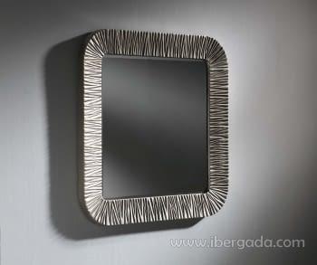 Espejo Elba Cuadrado Plata (90x90)