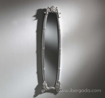 Espejo Loira II Plata (148x35)