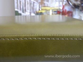 Banqueta Acero y Polipiel Verde - 1