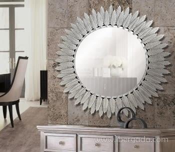 Espejo Amarante Aluminio (80x80)