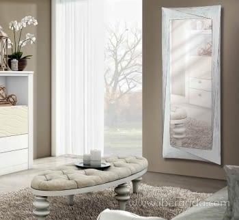 Espejo Deco Rectangular Blanco Decapé (170x65)