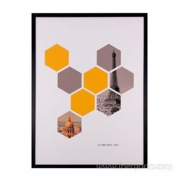 Cuadro HEXAGONS Marco Negro (60x80)
