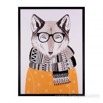 Cuadro FOX Marco Negro (60x80)
