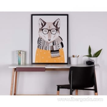 Cuadro FOX Marco Negro (60x80) - 2