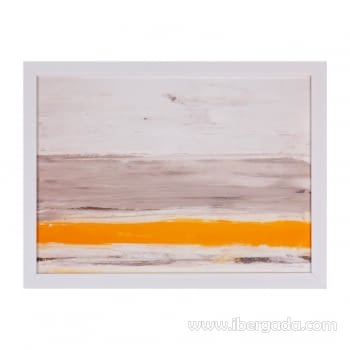 Cuadro BEACH Marco Blanco (40x30)
