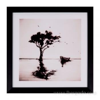 Cuadro TREE Marco Negro (30X30)