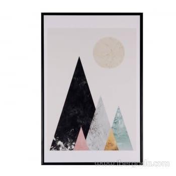Cuadro MOUNTAINS Marco Negro (40x60)
