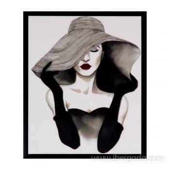 Cuadro WOMAN Marco Negro (25x30)