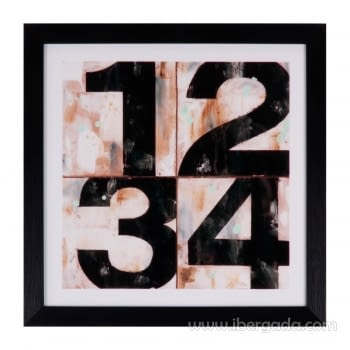 Cuadro NUMBER Marco Negro (30X30)